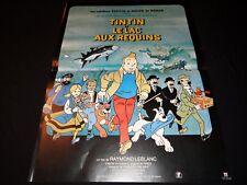 TINTIN et le lac aux requins !  affiche cinema animation , bd dessin herge