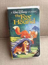 The Fox and the Hound VHS Black Diamond Walt Disney Original Animated Classic