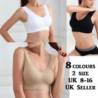 New Womens Ladies Seamless R Ahh Bra Leisure Lace Padded Vest Sports Yoga 0276