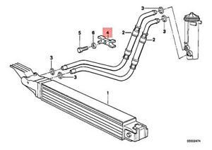 Genuine BMW E32 E34 E36 E38 E39 Sedan Oil Cooler Pipe Bracket OEM 17212243052