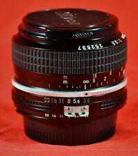 New listing Nikon 28mm F/3.5 Nikon F-Mount Ai Manual Focus Prime Lens - with Caps