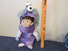 Monsters Inc Boo in costume plush toy with plastic face NICE 15 inches
