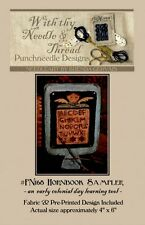 HORNBOOK SAMPLER PUNCHNEEDLE PATTERN-PRE-PRINTED WEAVERS CLOTH-COUNTRY STITCHES