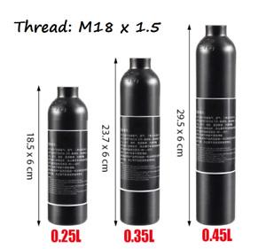 PCP Paintball 300BAR High Pressure Cylinder M18x1.5 Thread CO2 Air Tank 4500PSI