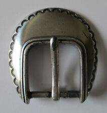 Vintage Silver Colored 1993 Woman's Belt Buckle With Design (1 Prong) Vtg. Rare