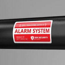 2X ALARM LOCK STICKER - GPS Tracking device Bicycle Lock Security Warning Decal