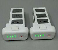 2 OEM Genuine DJI Phantom 3 Intelligent Flight Battery - 11 & 16 CHARGES