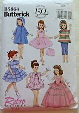 "Butterick Doll Clothes Pattern 2012 #B5864 Fits 18"" Doll Retro Butterick Uncut"