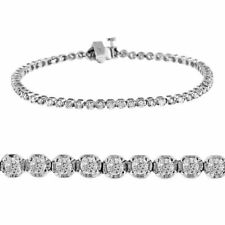 2.00 ct round cut white gold 10k diamond tennis bracelet D SI1 Natural