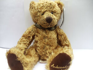 """New with tags Russ 11"""" Ambassador  Teddy Bear soft toy Hotel"""