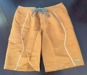 New Men's Solid Orange Columbia Sports Wear Co. Surf Board Shorts Swim Trunks 32