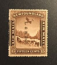 Stamps Canada Newfoundland SC211b 15c shifted L & S P overprint  See description