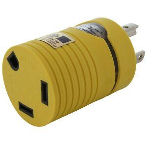 30 Amp RV/Generator Adapter NEMA L5-30P to NEMA TT-30R by AC WORKS®