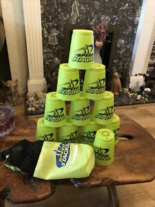 Speed Stacks Neon Green X11 With Bag Sport Stacking Cups Game