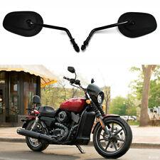 Black Motorcycle Long Stem Mirrors For Harley-Davidson Sportster 1200 Nightster