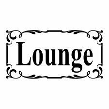 Lounge Door Sign  - Vinyl Decal Sticker