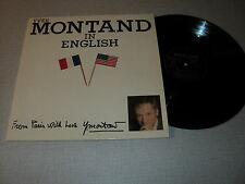 "YVES MONTAND 33 TOURS LP 12"" FRANCE IN ENGLISH FRANCIS LAI MICHEL LEGRAND"