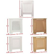 Radiator Cover White Unfinished Modern Traditional Wood Grill Heat Guard Small