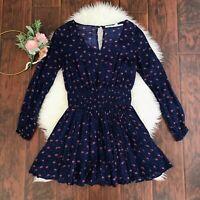 NEW Kimchi Blue Floral Long Sleeve Mini Dress Size M