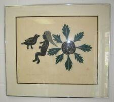 """1969 Helen Kalvak Spirit of the Dead Engraving 36/50 Mat opening 17 X 20"""""""