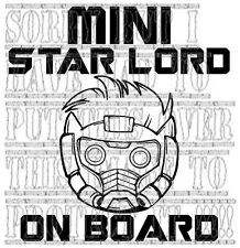 Mini Star Lord à bord Guardians of the Galaxy Vinyl Decal Sticker Signe de sécurité