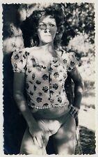 Argentina WOMAN'S OUTDOOR PORTRAIT / FRAU IM FREIEN * Vintage 50s Amateur Photo