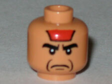 LEGO 7199 - Minifig Head Male Black Eyebrows, Red Paint on Forehead - (Mola Ram)