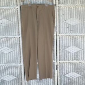 Pro Tour Cool Play Mens Golf Pants Silver Mink Modern Fit Flat Front 32 X 30 New
