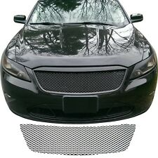 CCG GLOSS BLACK GRILL MESH PIECE INSERT FOR A 2010-2012 FORD TAURUS GRILLE