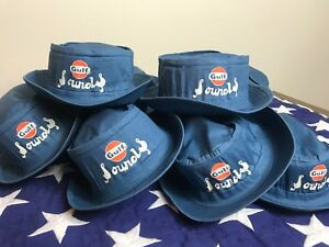 OOP ~ NASHVILLE SOUNDS & GULF Oil Logo Promotional Bucket Cap Hat * VHTF * SZ M