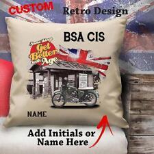 Personalizzata BSA C15 VINTAGE CLASSIC moto Cuscino in tela copertura REGALO