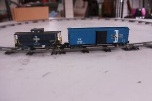 S-Gauge Boston & Maine Boxcar and Caboose (Auction#299)