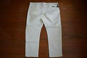 BUFFALO - 'SIX-x' Slim Fit Straight STRETCH White Jeans - Men Size 52 x 32 - NWT