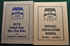 1970 Softball Rules, Slow Pitch Rules & Officials Certification Manual - RH