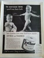 1940 Scott Scot bathroom toilet tissue nude baby Softie Toughie ad