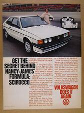 1978 VW Volkswagen Scirocco & Super Vee Mini-Indy Car photo vintage print Ad