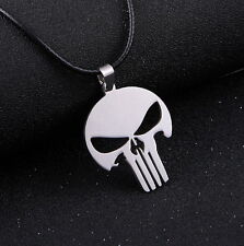 Steel Necklace Pendant Charm Usa Ship Marvel Hero The Punisher Skull Stainless