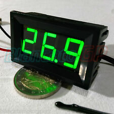 TERMOMETRO -50 ~ 110°C PANNELLO 12V DC LED VERDE NTC 10K sonda display domotica