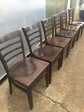 4 Solid Oak? Vintage Chairs - Strong Sturdy Heavy ~ Ladder back