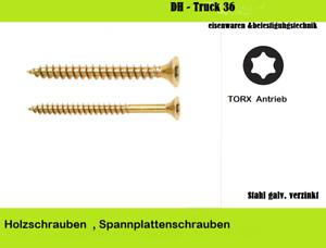 Holzschrauben, Spanplattenschrauben , Vollgewinde TORX galvanisch verzinkt
