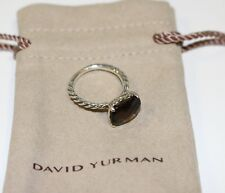 David Yurman Wheaton Stackable Smoky Quartz Ring Sterling Silver