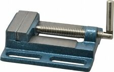 "Drill Press Vise, Low Profile, 3"" Jaw Width x 3/4"" Throat Depth"