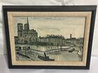 Bernard Buffet Framed Print Notre Dame et la Cite Notre Dame 1956 12 x 8 Framed