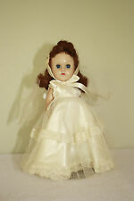"""Vintage Vogue Ginny Bride Doll, Original outfit, 8"""", Ready To Display, 1950's"""