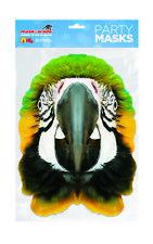 Parrot Animal Face Party Mask Card A4 Fancy Dress Ladies Men Kids Safari Bird