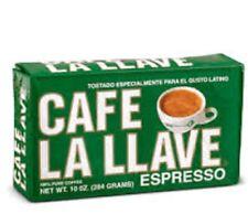 Cafe La Llave 12 PACK of Cuban coffee ground Espresso cafe Cuban Cappuccino 10oz