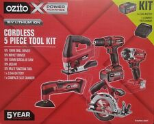 5pc Ozito 18v Power X Change Cordless Tool Combo Kit Fast Charger & Battery