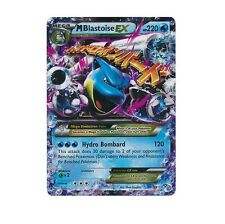 MEGA M BLASTOISE EX 22/108 Ultra Rare Pokemon Holo Foil Star Card! XY Evolutions