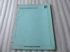 Kawasaki H1 500 H1 500 Original Assembly & Preparation Manual