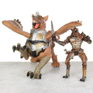 "Papo Fantasy World BIRDMAN & WAR GRIFFIN Gryphon 4"" Figure Figurine # 48698 2010"